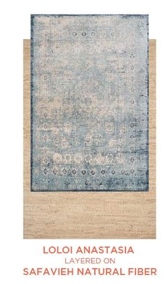 Loloi Anastasia Area Rug - This Light Blue - Ivory rug would make a wonderful addition to any house. Learn why others prefer to buy from RugStudio