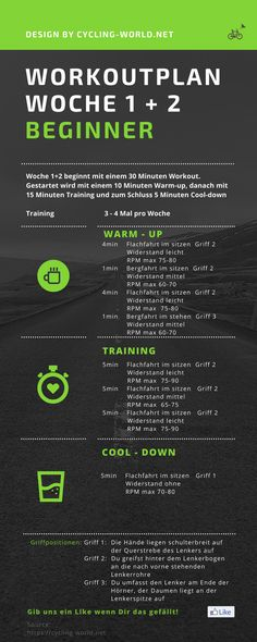 Starte jetzt Deinen 8 Wochen Workoutplan. Alle zwei Wochen werden die Anforderungen gesteigert. Indoor Cycling ist ein hoch effektives Ausdauertraining.Verbrenne jede Menge Fett und werden fit! #Indoorcycling #Spinning #Workout #Workoutplan #Ausdauertraining #Triathlon #Fettverbrennen #schnellabnehmen