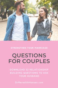 Do you want a stronger marriage? It starts with strong communication skills! Let these 52 questions to ask your husband jump start the communication in your marriage. Communication In Marriage, Intimacy In Marriage, Best Marriage Advice, Strong Marriage, Happy Marriage, Communication Skills, Dating Advice, Couple Questions, Questions To Ask