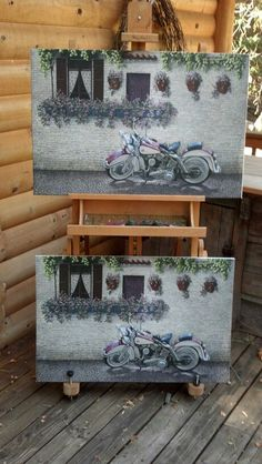 Which is the original? None both are giclee's  ((canvas transfer)) Available from artist Darcy Gerdes