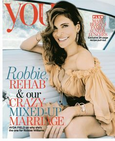 Ayda Field wearing a Yoko London South Sea pearl cuff on the cover of You Magazine.