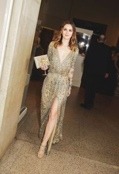 Leighton Meester looking stunning as usual in a bedazzled gown.