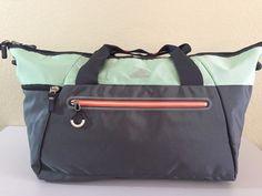bea5ac255864 ADIDAS Women s Studio Duffel Grey Green Gym Bag luggage 12.5
