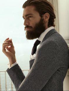 Nice beard & jacket... MoreSuitsAndTies.com