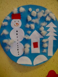 Christmas Crafts For Kids, Christmas Ornaments, Winter Fun, Art Classroom, Art Activities, Snowman, Paper Crafts, Crafty, Halloween