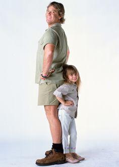 Dads and daughters. So special. Terri Irwin, Steve Irwin, Daddy Daughter, Mother Daughters, Mother Son, Father, Irwin Family, Crocodile Hunter, Bindi Irwin