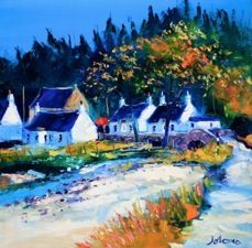 by John Lowrie Morrison: jolomo Painting Lessons, Artist Painting, Watercolor Paintings, West Coast Scotland, City Scapes, English Artists, House Art, Heartland, Beautiful Landscapes