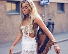 crochet mesh dress | SALE-Crochet Mesh Dress - White