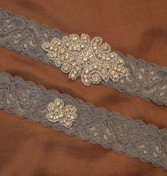 Rhinestone Wedding Garter Set Elegant by HavingFunWithCrafts, $22.99