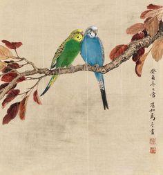 鹦鹉工笔画 - Google 搜索