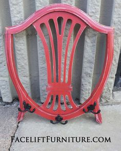 repurposed furniture before and after | Chair Backs Re-purposed into Coat Racks