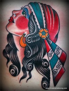 Enamored with the subtle and personal touch found in Chris Stuart's Traditional Americana tattoos. #tattoo