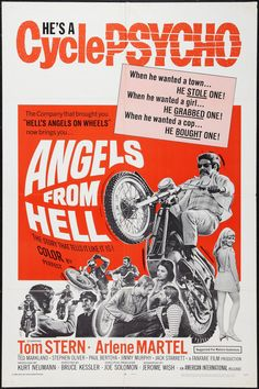 Angels from Hell vintage movie poster by Casarama on Etsy, $80.00