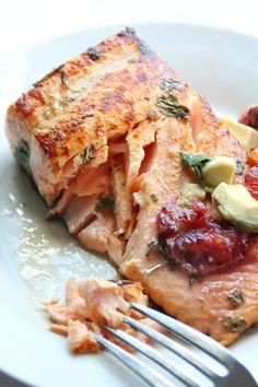 Citrus Marinated Salmon from AmyintheKitchen.com