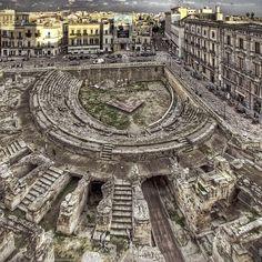 roman anphitheatre in lecce / salento / puglia / italy