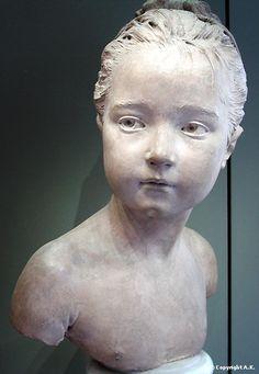 Jean-Antoine Houdon : Louise Brongniart âgée de sept ans