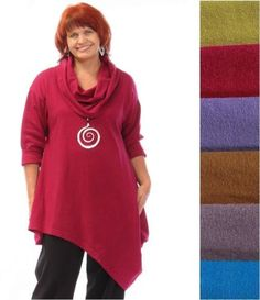 PACIFICOTTON-Bryn-Walker-Pacific-Cotton-NORA-TUNIC-Angled-Hem-S-M-L-XL-2014-FALL