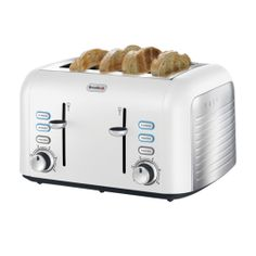 Breville Opula #matte Bone China White 4 Slice Toaster