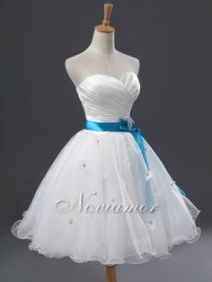 Cheap Simple Sweetheart Satin And Tulle Knee Length Bridal Dress AW1837 On Sale - Noviamor AU Store