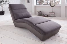 Yankee 5 Relaxliege brown Webstoff All Senses mud Sofas, Recliner, Bedroom Decor, Lounge, Couch, Grey, Brown, Mud, Furniture