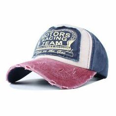 Vintage Washed Denim Baseball Cap Women And Men Distressed Hat Burgundy Navy d8e023413
