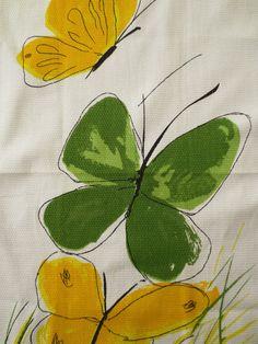 Vintage Vera Tea Towel - design style of Walter Erhard