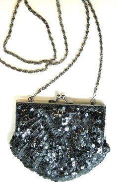 Milor Women Evening Shoulder Bag Dark Gray Hand Made.  MMM 28 #Milor