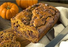 This easy and super moist chocolate chip pumpkin bread is made with just 3 simple ingredients! (cake mix, pumpkin puree and chocolate chips). It's my favorite easy pumpkin breakfast or snack recipe for Fall.