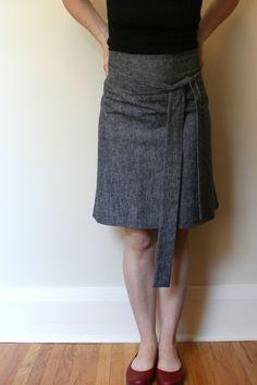 sam lamb: apron skirt