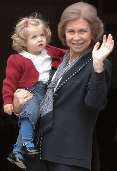 Queen Sofía & Princess Royal Leonor of Spain