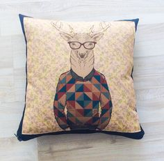 Decorative cushions sofa pillows deer pillows by BeTheOriginal