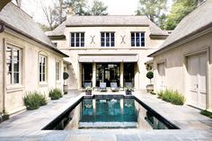love the pool in the center of the home - allows for privacy or a central party area