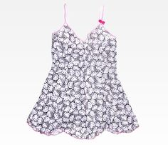 Hello Kitty Print Babydoll With Matching Thong in Designer Collections Hanky Panky at Sanrio