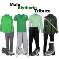 The Hunger Games/Harry Potter Cross Over : Male Slytherin Tribute, created by nearlysamantha on Polyvore