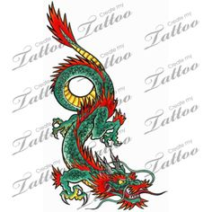 Marketplace Tattoo Dragon #2888 | CreateMyTattoo.com