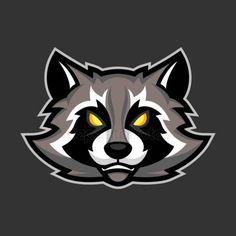 Raccoon mascot, Sport or esports racoon logo emblem - Stock Vector , Iphone Wallpaper Nba, Raccoon Illustration, Blood Art, Animal Masks, Racoon, Game Logo, Typography Logo, Badge, Drawings