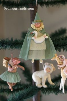 Spun cotton ornaments by: Jerry & Darla Arnold
