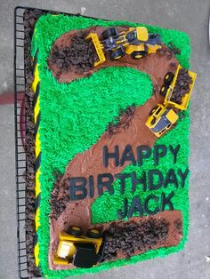 2nd birthday construction cake, Photo by Kupcakes by Kaitlyn