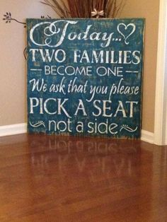 Vintage Style Wood Sign Country Wedding Sign Today by VinylDezignz, $136.95