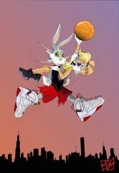 Check out Brian Bomster-Jabs new Bugs and Lola Bunny Illustrations