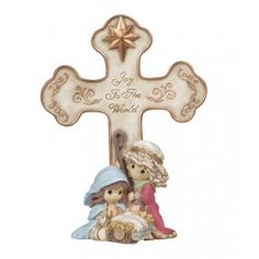 Nativity Cross With Easel Stand - Christmas - Figurines - Precious Moments