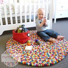 pompom rug for nursery