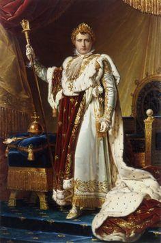Napoleon I as Emperor of the French in coronation regalia.