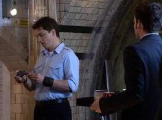 Still of John Barrowman and Gareth David-Lloyd in Torchwood (2006)