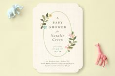 Novel Tradition Baby Shower Invitations by Jennifer Wick at minted.com