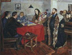 Boris Ioganson. The Soviet court. 1928