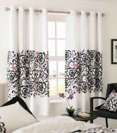 bold print curtains