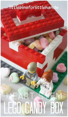 Lego Candy Box for Valentine's Day STEM activity. Build a candy box with LEGO…