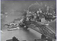 The Golden Triangle at the junction of the Monongahela and the Allegheny Rivers, Pittsburgh, 1936 [LIFE magazine]
