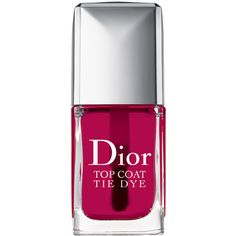 Dior Beauty Dior Vernis Tie Dye Top Coat ($28) ❤ liked on Polyvore featuring beauty products, nail care, nail polish, fillers, beauty, makeup, nails, christian dior nail polish and christian dior